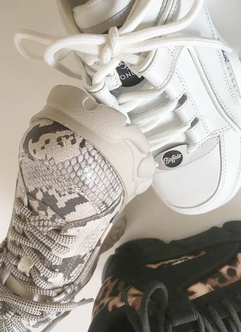 Buffalo - basket blanche semelle nuage chez Trendy Shoes