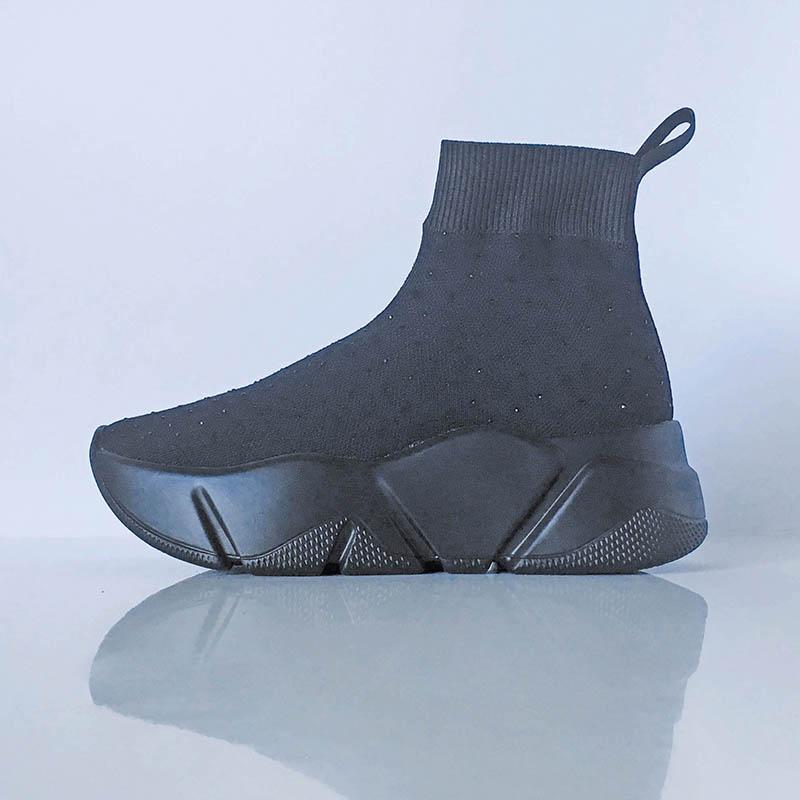 Studio Italia - bottine chaussette noire plumetis chez Chérie Chaussures à Annecy