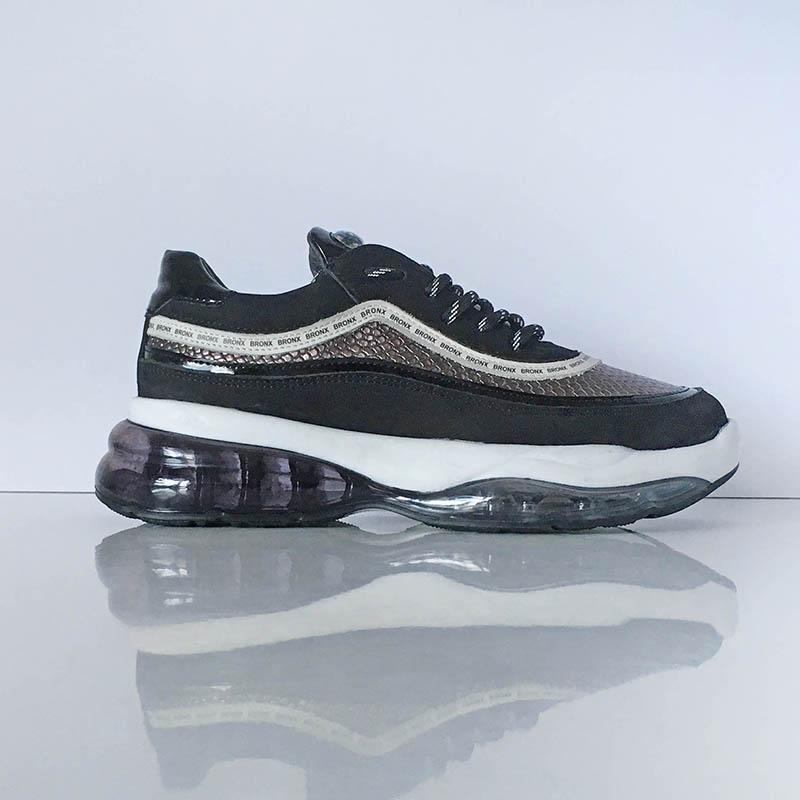 Basket Bronx sneaker chaussette grise semelle XXL chez I Lov Shoes à Annecy