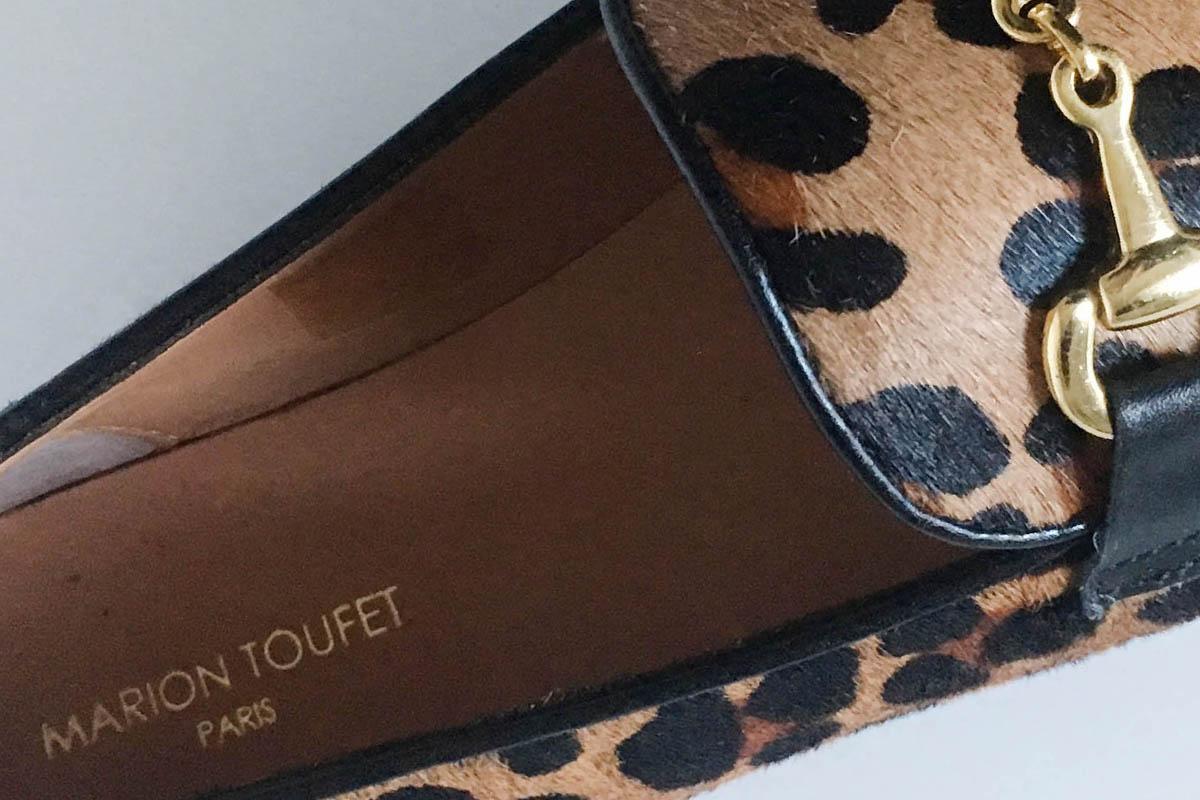 Marion Toufet - mocassin léopard cuir chez Chérie Chaussures