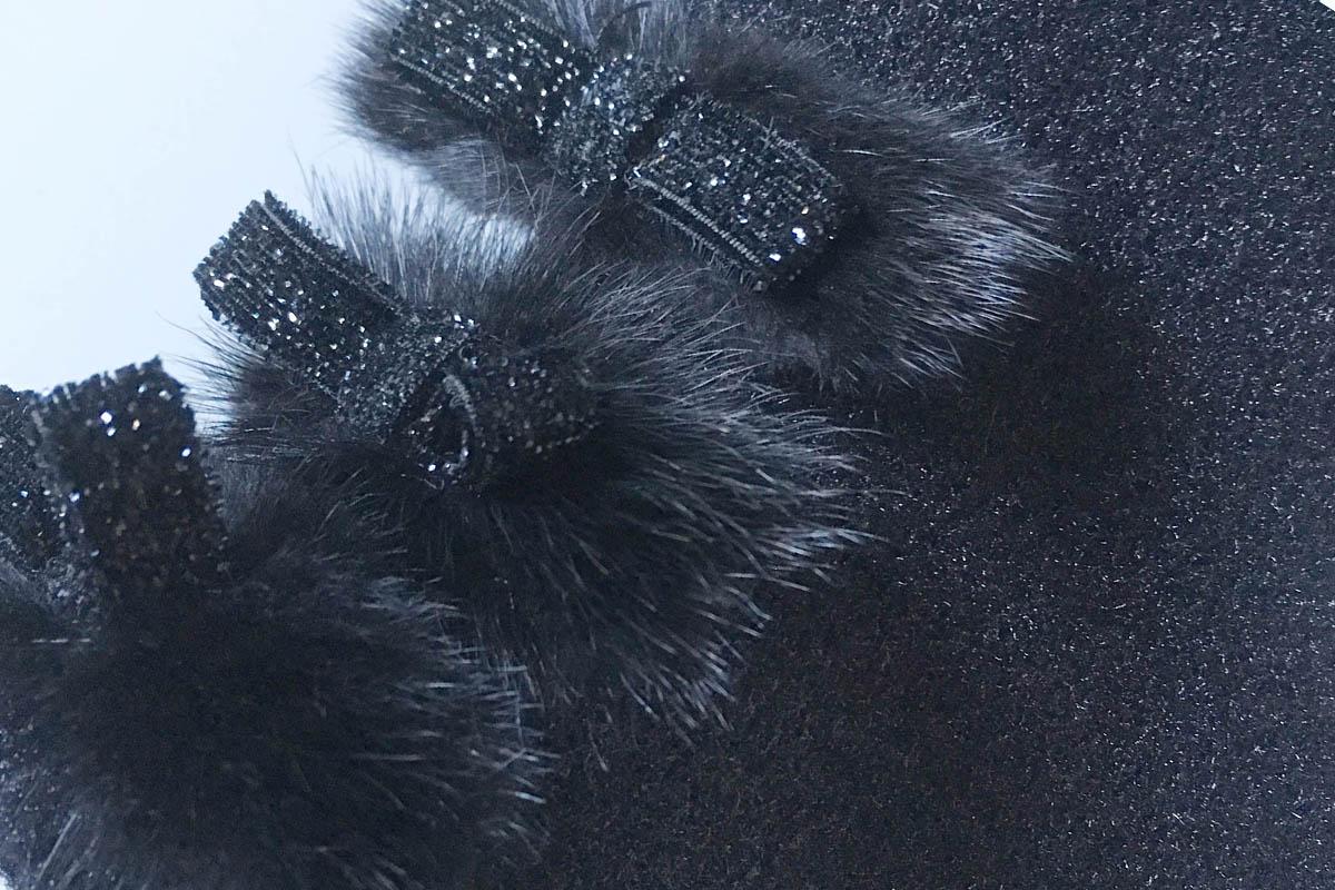 Studio Italia - bottine chaussette noire à mini-noeuds chez Chérie Chaussures Annecy