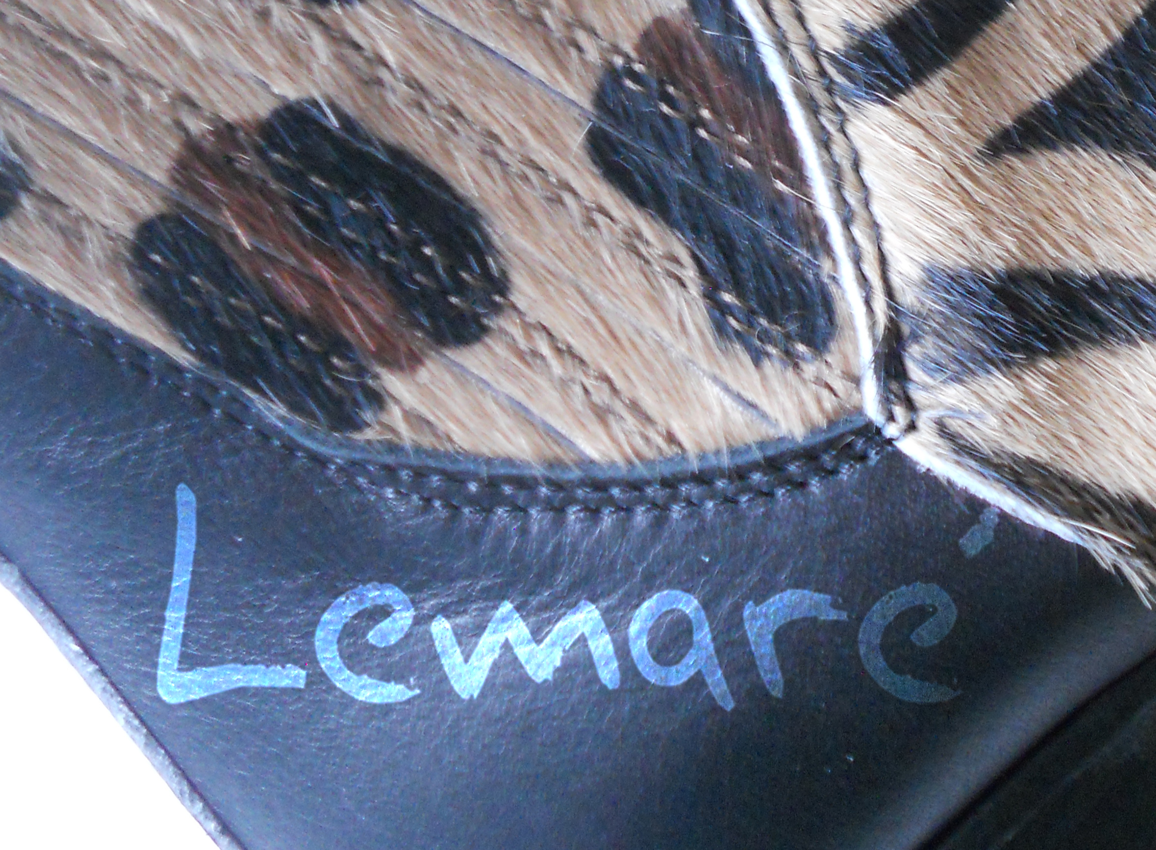 Lemaré bottine tiag cuir et fourrure (détail) à Annecy chez Chérie Chaussures