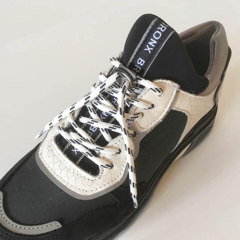 Basket Bronx sneaker chaussette grise semelle XXL chez I Lov Shoes à Annecy (détail)