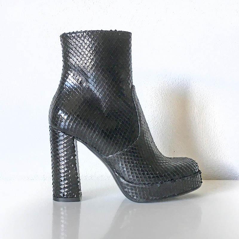 Gian Carlo Napoli Chaussures - bottine cuir à plateau et talon XXL noire