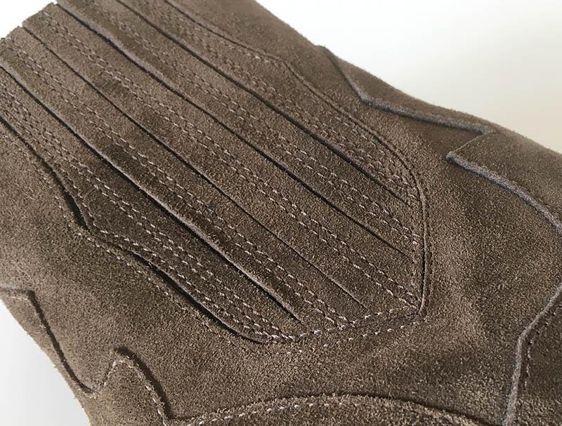 Gian Carlo Napoli Chaussures - bottine veau velours couleur café talon biseauté (détail)