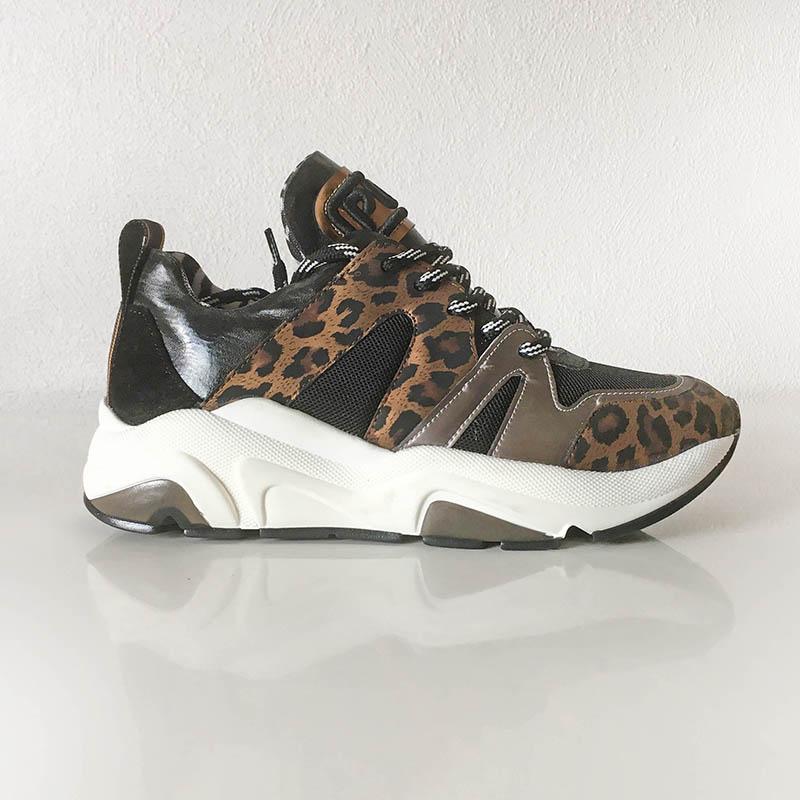 Méliné - basket sneaker cuir et motifs grand félin à Annecy, chez I Lov'Shoes