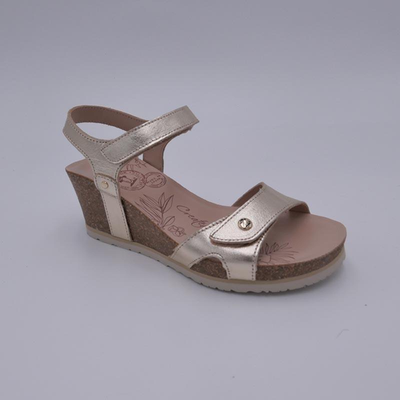 Sandale-PanamaJack-cuir-or
