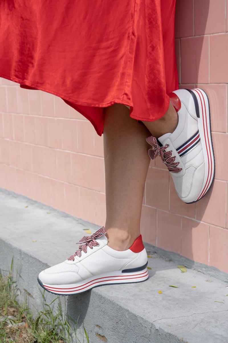Remonte-Basket-cuir-Blanc-mode-Ilovshoes-Annecy