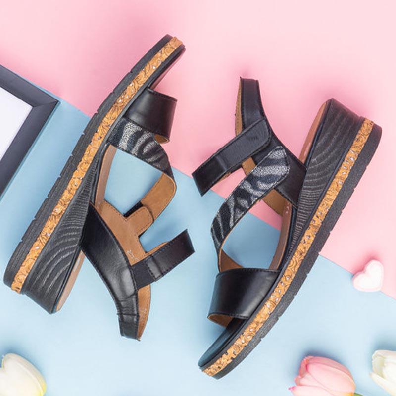 basket-Remonte-cuir-noir-talon-confort-marche-Remonte