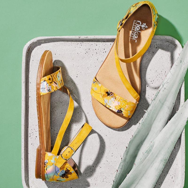 sandale-Yellow-citron-mode-Annecy-Rieker-Ilovshoes