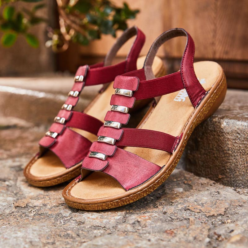 Rieker-sandales-cuir-bordeau-confort-Annecy