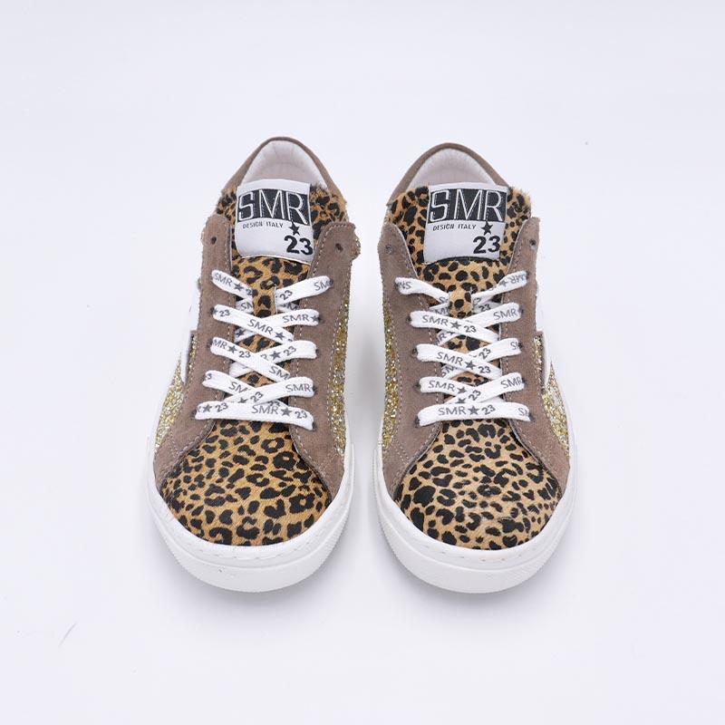 Lacet-blanc-basket-SMR-motif-leopard