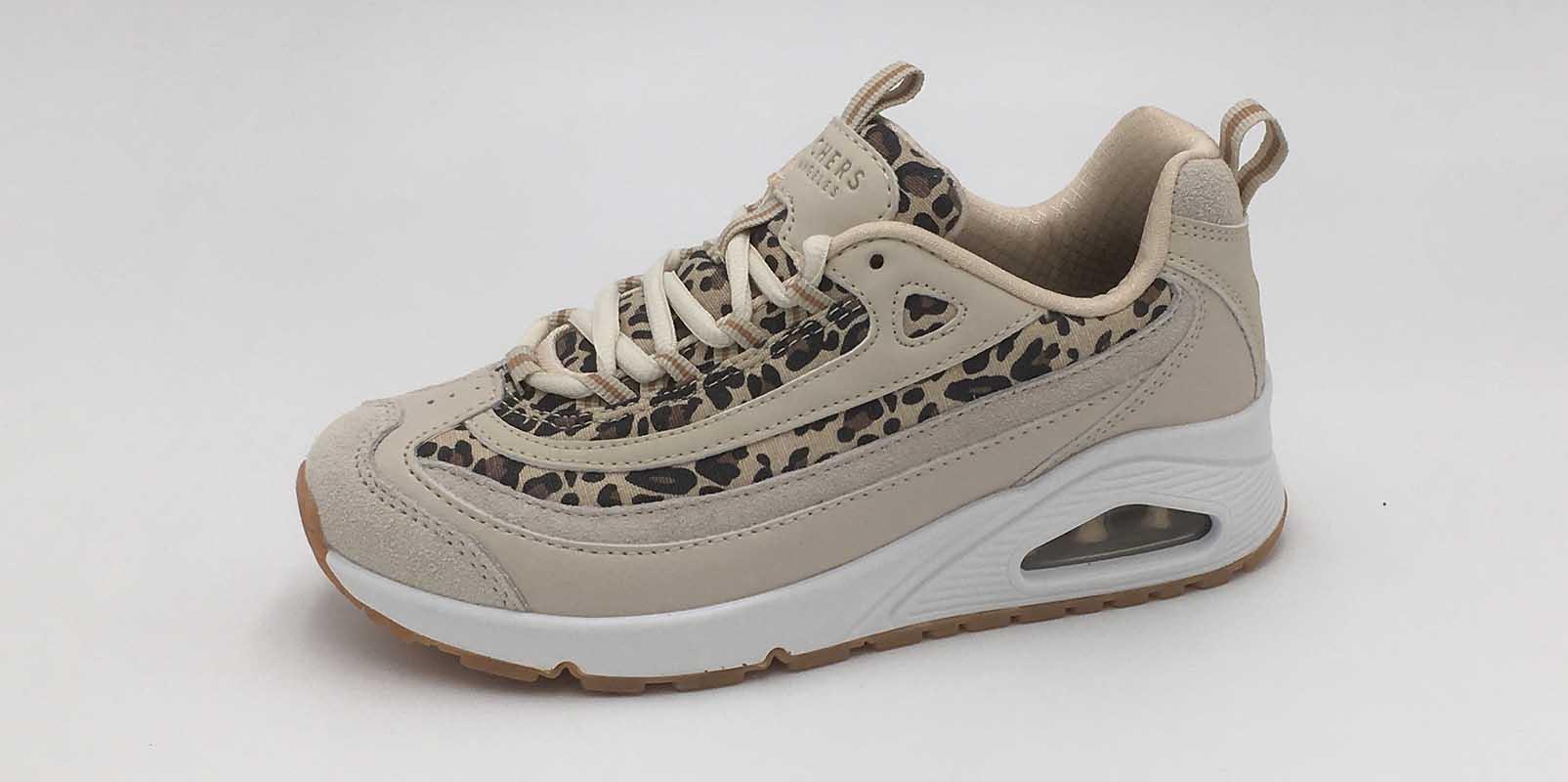 Sneakers-Skechers-Cuir-Beige-Sport-City-Annecy-Mode
