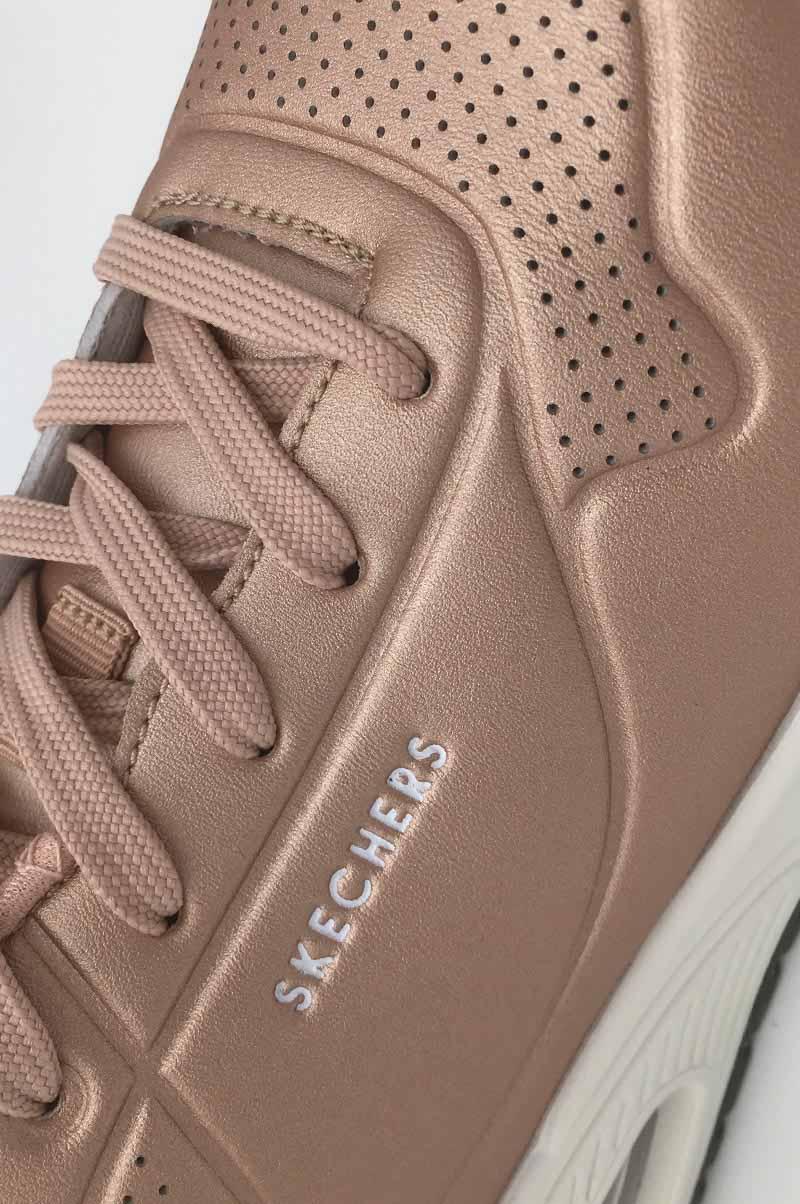 Skechers-sneakers-detail-qualite-cuir-rose-or