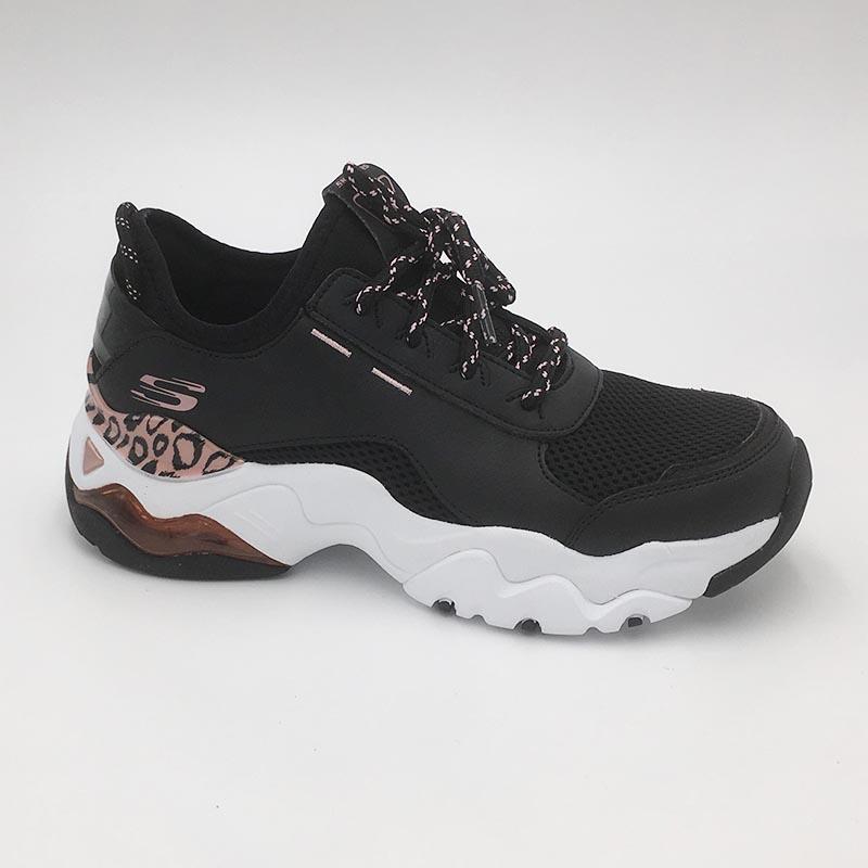 Skechers-basket-sport-fashion-cuir-noir-detail-panthere