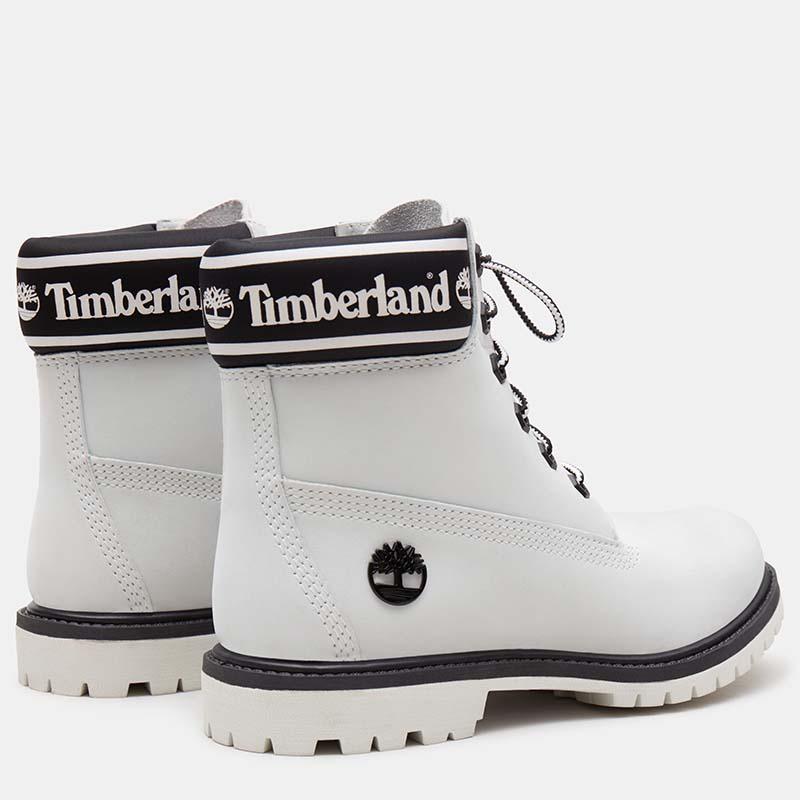 Timberland chaussures - bottines à talon cuir blanc