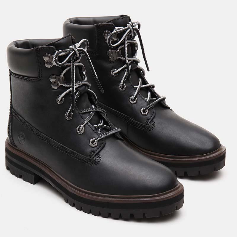 Timberland chaussures - bottines à talon cuir noir