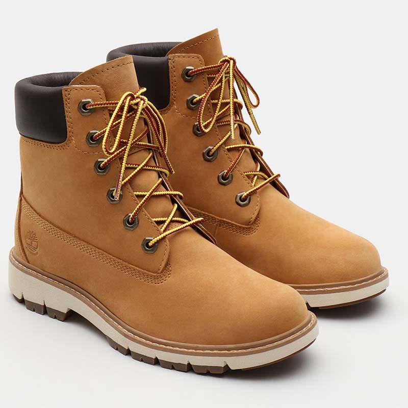 Timberland chaussures - bottines à talon cuir beige