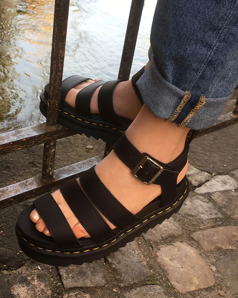 Dr Martens 2021 cuir-Doigt de pied-Cherie Chaussures