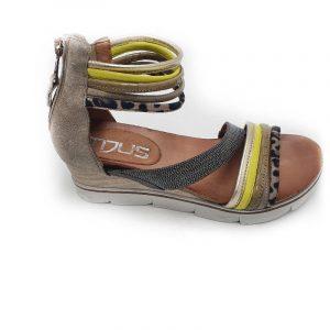 sandale compensée Mjus kaki vendu chez chérie chaussures